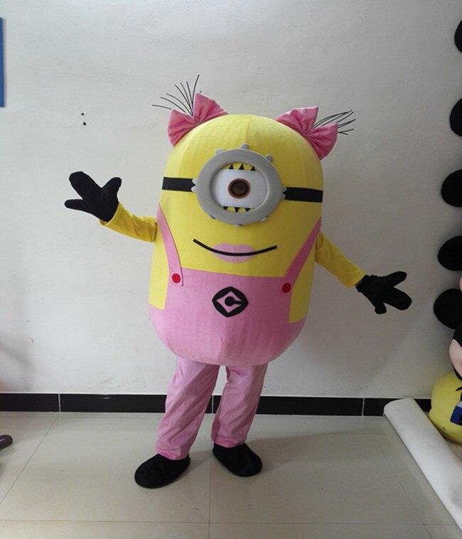 Despicable Me 2 De Mascotte Costume Despicable me minion Costume de mascotte fantaisie de Bande Dessinée costume Livraison Gratuite
