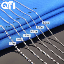 QYI Fashion 18K White Yellow Rose Gold Link Chain 18 inches Au750 Necklace Pendant Wendding Party Gift For Women