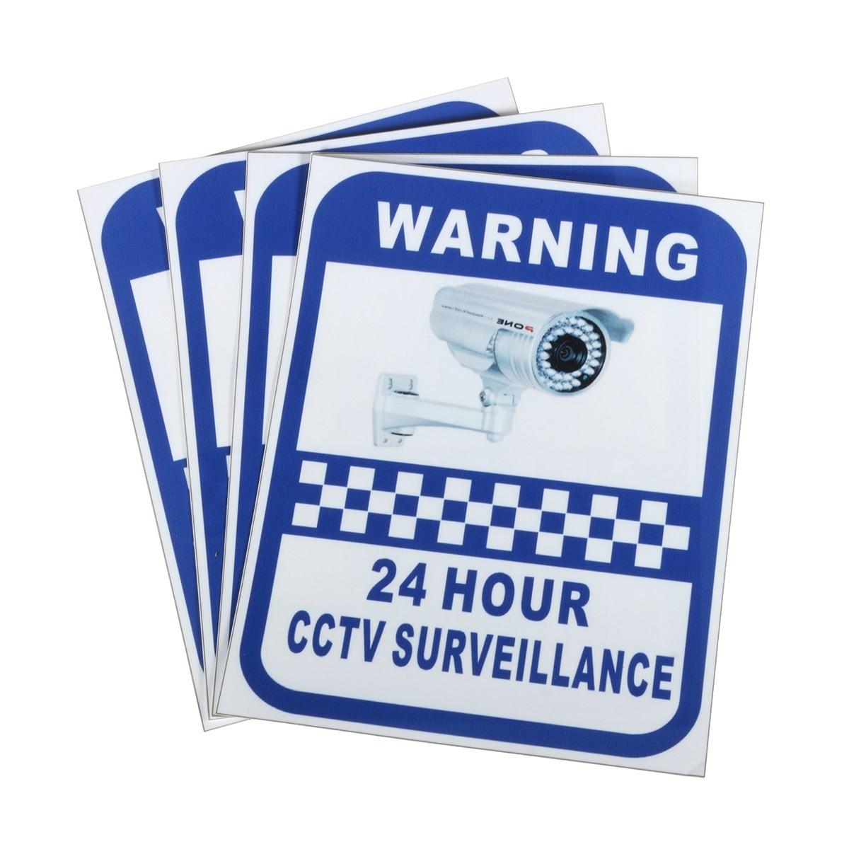 Safurance 4xcctv Камера Предупреждение Наклейки наблюдения виниловая наклейка видео знак безопасности дома Детская безопасность