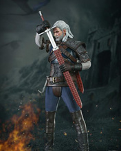 CM002 1/6 Scale WITCHE HUNTER Geralt Full Set Action Figures With Head Sculpt Body Leather Armor Necklace Sword Accessories