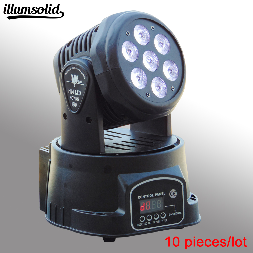 10 pieces/lot 7x12w DMX wash RGBW LED Moving Head Light,14CH Stage Party DJ Lighting, for Indoor Club, Party Show 6pcs lot white color 132w sharpy osram 2r beam moving head dj lighting dmx 512 stage light for party