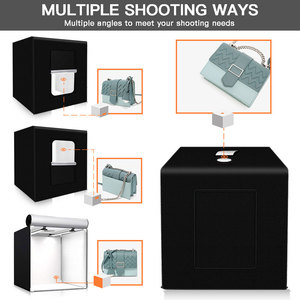 Image 3 - Capsaver M60II 접는 사진 상자 스튜디오 사진 라이트 텐트 60cm Softbox 48W CRI92 라이트 박스 보석 장난감 제품 촬영
