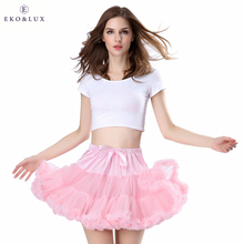 EKO&LUX Free Shipping Womens Skirt Fluffy Chiffon Pettiskirts Tulle Skirts Girls Princess Party Skirt for Lady Adult Tutu Skirt