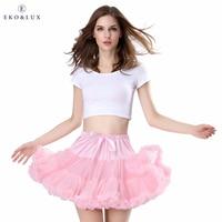 EKO LUX Free Shipping Womens Skirt Fluffy Chiffon Pettiskirts Tutu Skirts Girls Princess Party Skirt For