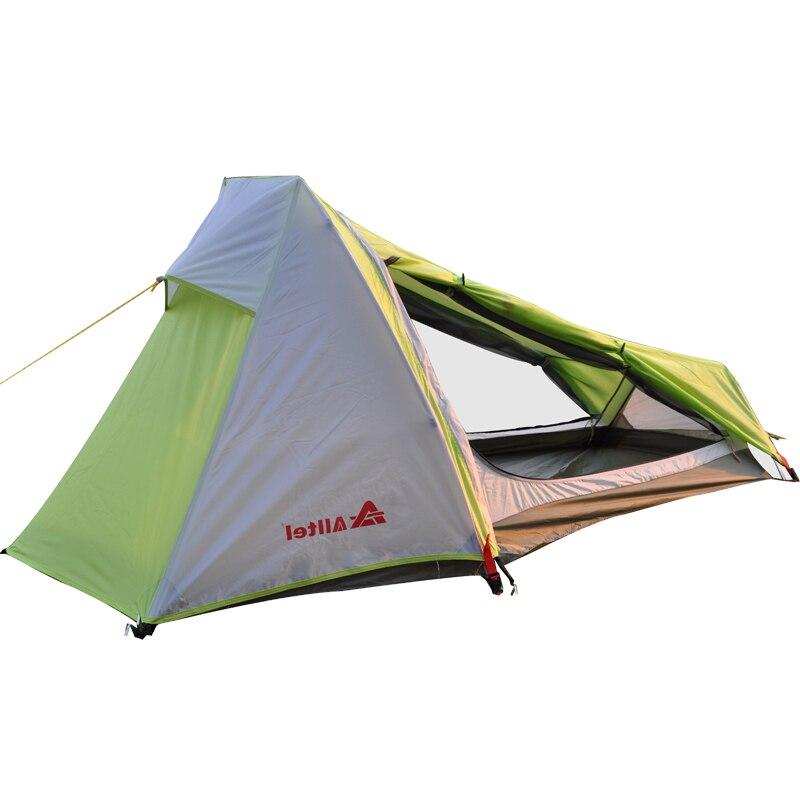 1 homme En Plein Air Tente de Camping Double Couches Étanche Ultra-Léger En Aluminium Touristique Alpinisme sac à dos de randonnée Tentes Individuelles