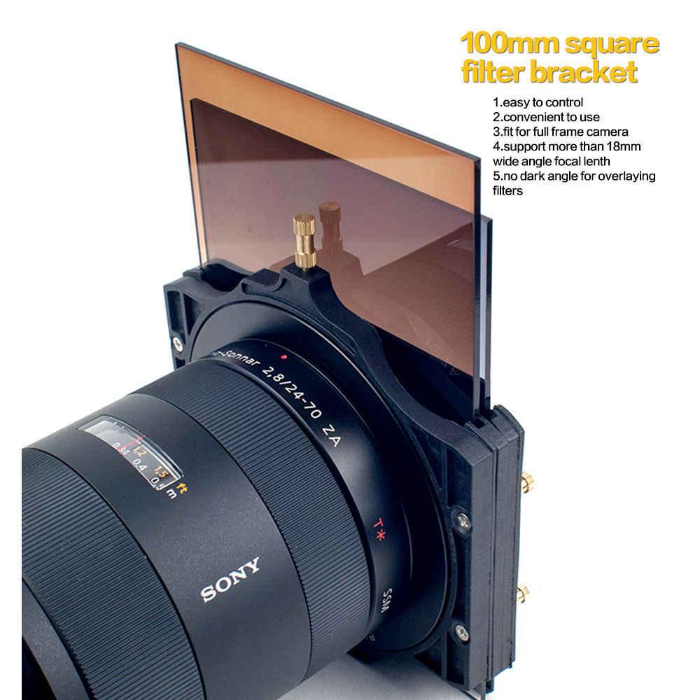 Zomei 100มิลลิเมตรNDตารางกล้องกรองผู้ถือและแหวนa dapterสำหรับCokinลีค้างคาZomei 100*100 100*150มิลลิเมตรกรอง