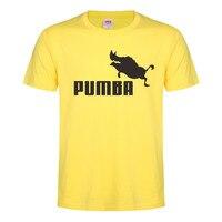2017 Funny Tee Cute T Shirts Homme Pumba Men Women 100 Cotton Cool T Shirt Lovely