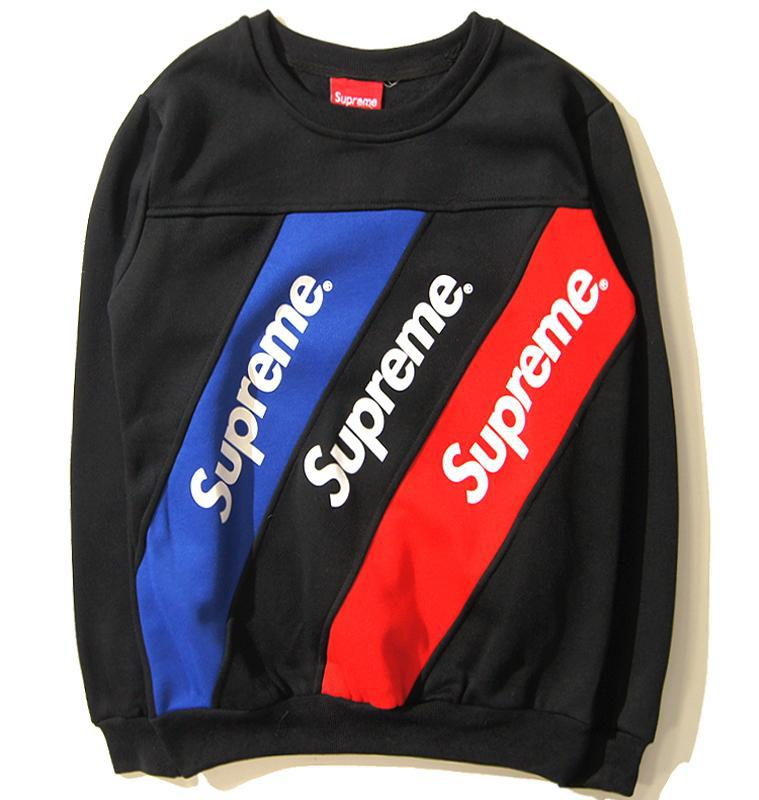 Supreme Sweatshirts Striped Casual