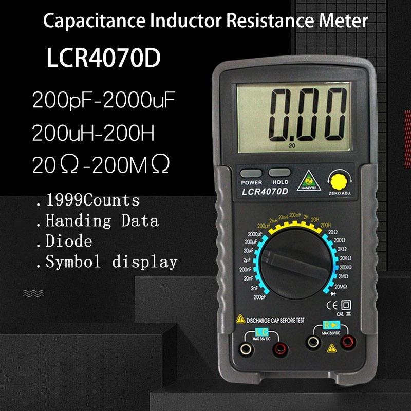 Professional Digital Multimeter LCR digital bridge Multimetro resistance meter Capacitance tester Inductance multimeter Meter