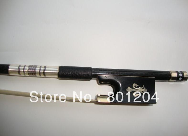 2pcs violin carbon fiber bow with 10 hanks of white violin bow hair 80cm in length 50 hanks high quality mongolia black violin bow hair 6 grams each hank in 32 inches