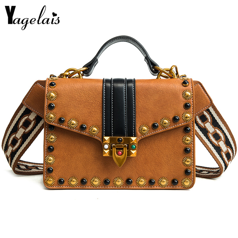 2018 Vintage Hot S Women Clutch Leather Ladies Single Shoulder Bags Ruched Flap Crossbody Bags Fashion Womens Handbags