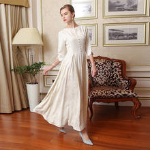 Silk Vintage Women White Maxi Dress
