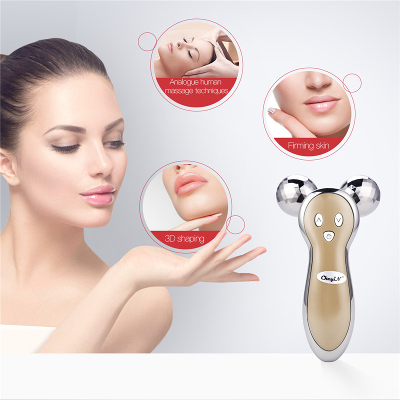 Micro-current Vibration 3D Roller 360 Rotate Full Body Massager Anti Cellulite Face Skin Lifting Tighten Wrinkle Remover Tool 46