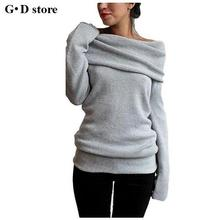 Winter Long Sleeve Wool Knitted Pullover Sweater