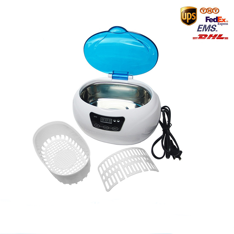 New Portable Digital Ultrasonic Cleaning Transducer Baskets Jewelry Watches Dental Heated Ultrasound font b Cleaner b