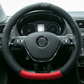 DAILEMO funda volante piel volante de carro Car Styling Leather Steering Wheel Cover For VW LAMANDO GOIF SAGITAR POLO LAVIDA