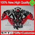 Jordan Red black 7gifts For SUZUKI GSXR750 08-10 GSXR 600 750 08 09 10 Red black 4MC821  K8 GSX R600 R750 2008 2009 2010 Fairing
