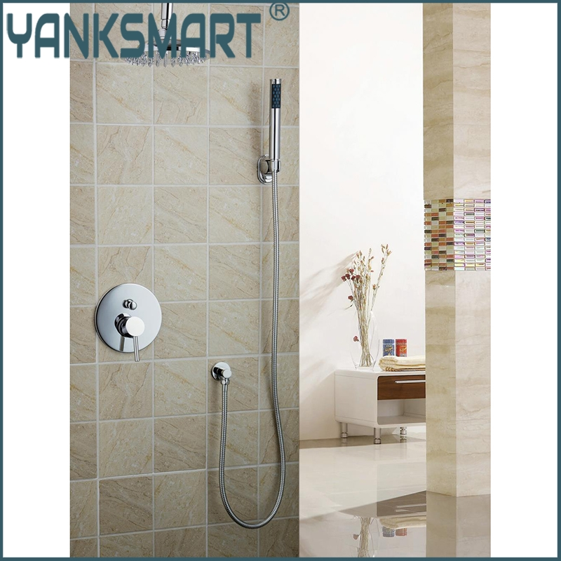 Single Handle Wall Mount Shower Faucet with 8 Inch Showerhead Bathroom Rainfall 50239-22A Bathtub Chrome Sink Faucets,Mixers Tap unique design round 8 abs rainfall shower head bathroom 50239 22a shower set torneira bathtub chrome sink faucets mixer taps