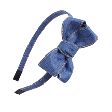 2019 High Quality Denim Headband Cute Bows For Girls Hair Bands Solid Jeans Handmade Accessories Headwear for girls
