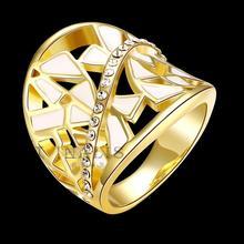 Позолоченные Кольца Для Женщин Геометрическая Выдалбливают Кольца Перста Лучшие Качества Свадебные Femme Ювелирных Изделий Кольца Для Женщин