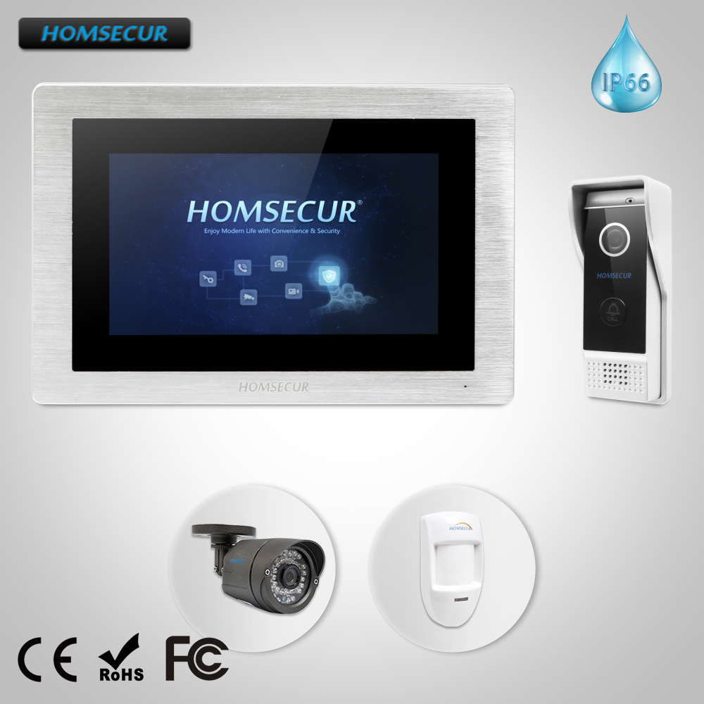 HOMSECUR 7 Video Door Phone Intercom System with IR Night Vision 800TVL CCTV Camera Touc ...