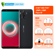 "Ulefone Power 3S 6.0 ""18: 9 FHD + تلفن همراه MTK6763 Octa Core Android 7.1 4GB + 64GB 16MP 4 Camera 6350mAh Face ID 4G Smartphone"