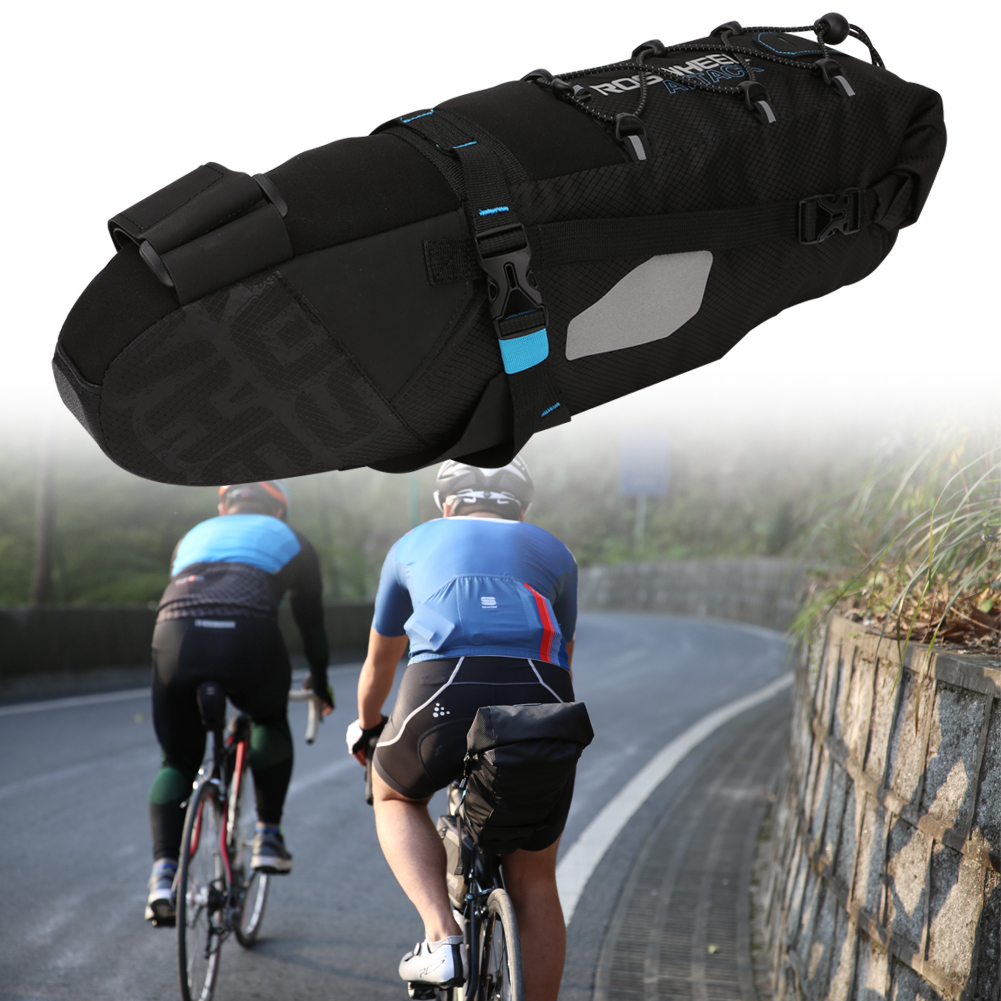 10L MTB Mountain Bike Bicycle Bag Cycling Bicycle Saddle Bag Tail Rear Seat Bag Bag for A Bike Bicycle Accessories rockbros large capacity bicycle camera bag rainproof cycling mtb mountain road bike rear seat travel rack bag bag accessories