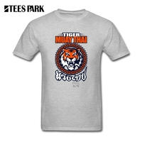 T Shirt Men Tiger Muay Thai 3 Thailand Martial Art Male Crewneck Short Tops Sleeve T