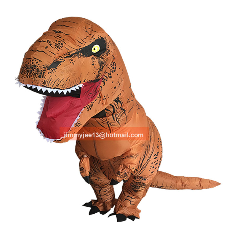 Inflatable dinosaur costume halloween cosplay halloween costumes for women men Jurassic Park disfraces adultos T-REX fancy dress