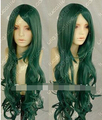 LL<<< 00933 HOT~ ZYR Distant in space time/Long Dark green curly cosplay Wig