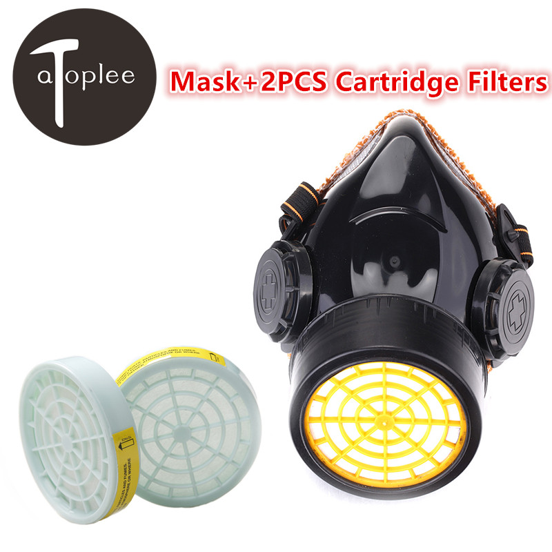 1PC Single Cartridge Anti-Dust Mask+2PCS Spare Cartridge Filters PVC Safety Filter Cotton Mask Chemical Respirator Filtration 2pcs 3m 8210v respirator breathing valve mask pm2 5 dust mask non woven fabric folding filter mask adult n95 safety cup masks