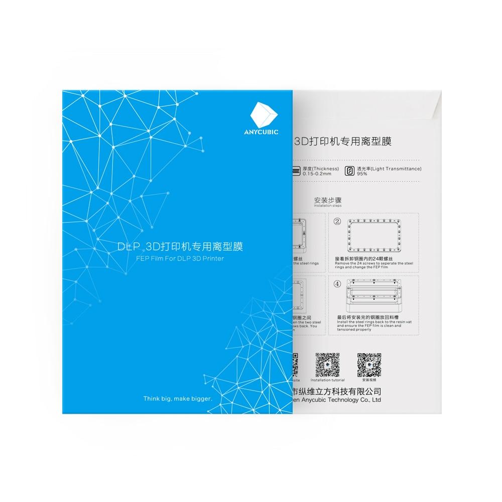 FEP фильм 140x200 мм SLA/ЖК-дисплей Fep листов 0,15-0,2 мм 3D-принтеры нитей для ANYCUBIC Фотон смола УФ 3D-принтеры impresora