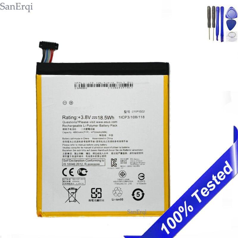 C11P1502 Battery For ASUS ZenPad 10 Z300C Z300CL Z300CG Batterie Bateria 4890mAh With Tools SanErqi