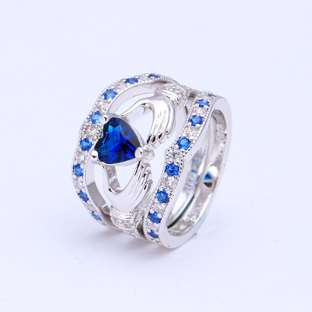 Rings Princess Royblue/sky Blue Square Aaa Zircon Birthstone Wedding Rings For Women Engagement Rings Party Jewelry Gift Dropshipping At Any Cost