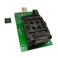 eMCP162 eMCP186 Socket with clamshell programming adapter USB HDD flash memory mobile tablet data recovery socket BGA162 BGA186