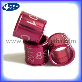 aluminum birds ring pigeon  foot ring  metal ring bands for pigeons cheapest