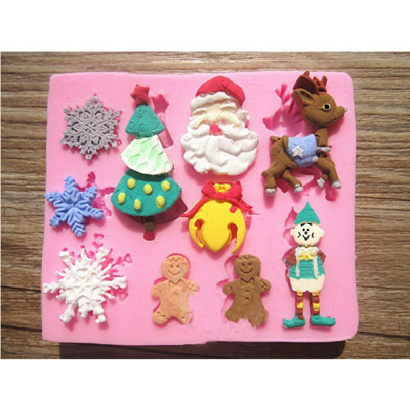 Cake Decorating With Chocolate Candy : Aliexpress.com : Buy 1Pc Christmas 3D Silicone Candy Cake ...