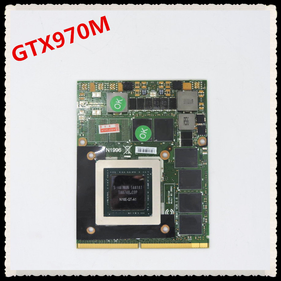 GTX 970 m GTX970M MS-1W0J1 Ver 1.0 6g DDR5 192bit VGA Vidéo Carte Pour MSI 16F3 16F4 1762 1763 GT60 GT70 GE72 Série