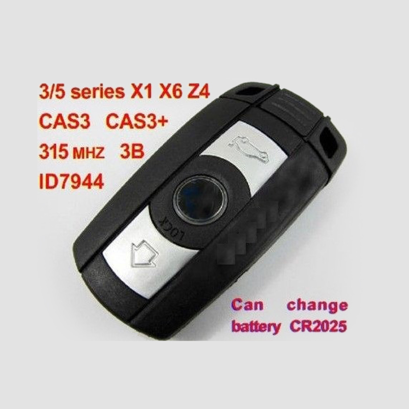 FULL Key Fob 315 MHZ For BMW 3/5 Series X1 X6 Z4 + CHIP ID7944 + ELECTRONICS CAS3 CAS3+ cas plug for vvdi 2 for bmw or full version add making key for bmw ews vvdi2 cas plug