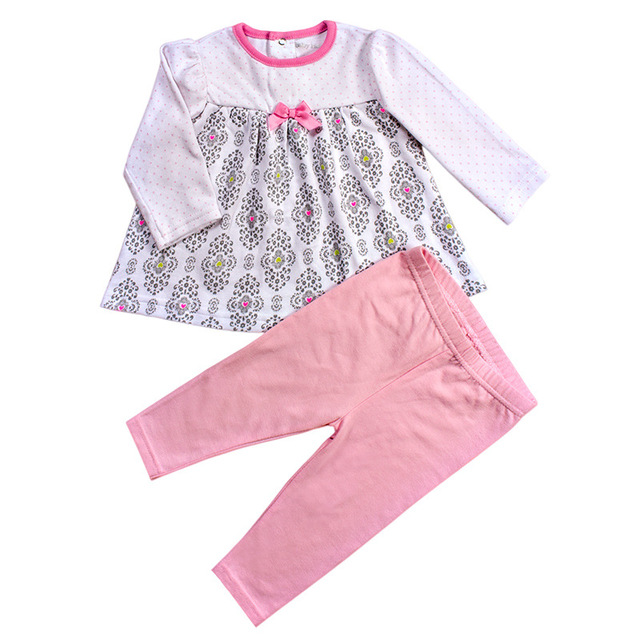 New Spring Autumn Girls Baby Clothes Sets Of Cotton Children S