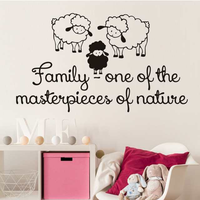 Family One Of The Masterpieces Of Nature Three Sheep Wall Stickers ...