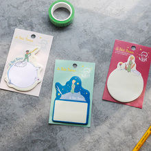 6 pcs/Lot Le petit prince memo pad Cartoon paper sticky note Diary stickers bookmark Post it Office School supplies CM625