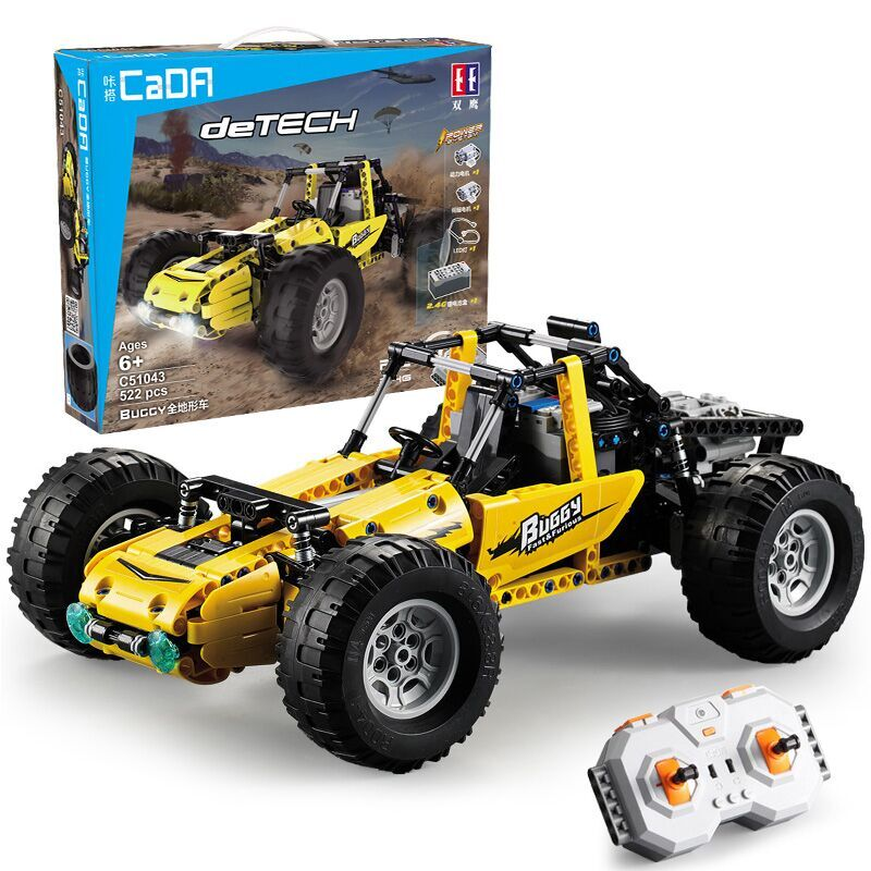 522pcs Fit Technic Series DIY Building Blocks Bricks RC Racing Car Buggy Model All Terrain Off