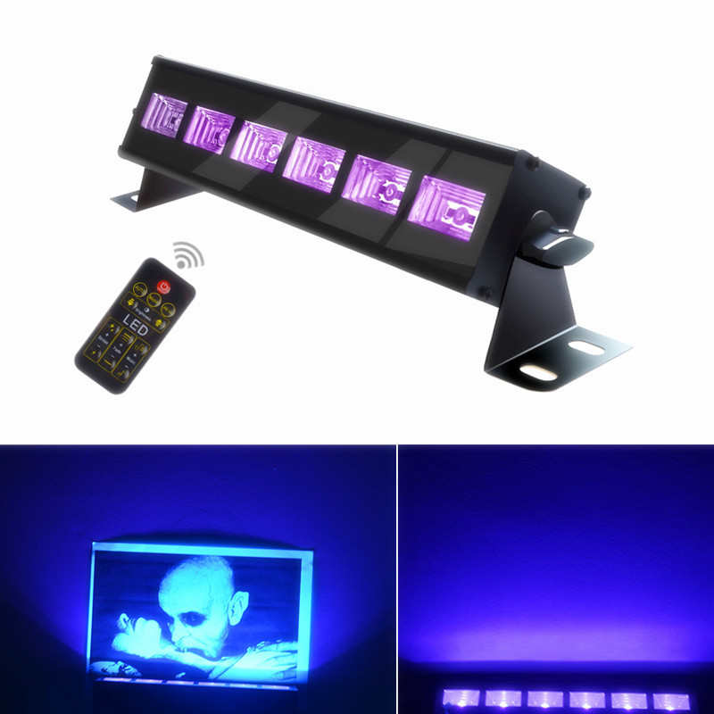 New UV DMX Stage Light 18W 27W 36W AC100-240V LED Bar Laser Projection Wall Washer Lighting Effect Christmas Party Disco DJ Lamp led uv color bar wall washer light 8x3w bar laser projection lighting party club disco light for christmas indoor stage lights