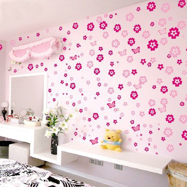 108 Flowers Removable Wall Sticker Wall decor Wall Stickers