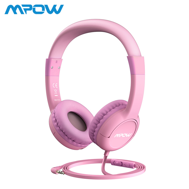 Mpow BH245 Kids Boys Girls Headphones Over Ear Hearing Protection Soft Headphones Max 85db With Volume Control&Mic For Children