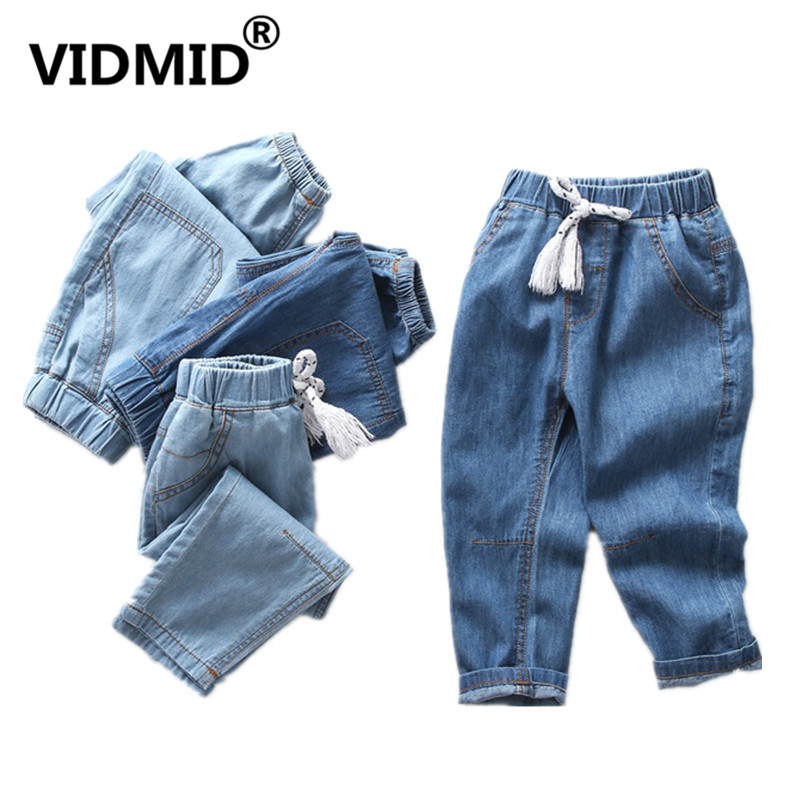 VIDMID 2-10 Years Kids Boys Pants Jeans Trousers Ultra Thin Denim Jeans Kids Pants Children's Cotton Long Pants Jeans 4088 01