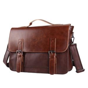 Briefcase Business Bag Crazy Horse Leath