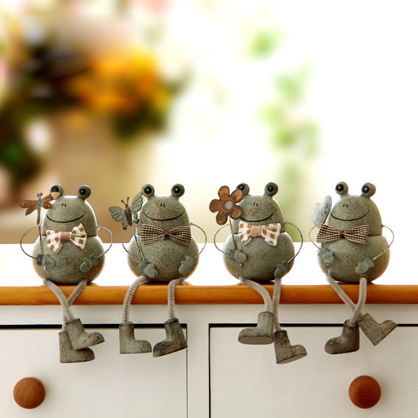 Mini Order 5 2pcs Resin Lovely Frog Garden Decoration Decor Microscopic Landscape Bonsai Potted
