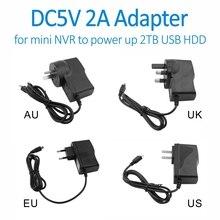 Doerguin настенных розеток DC5V2A Micro USB Мощность адаптер для AEEYE мини POE NVR, XMEYE мини NVR для Мощность до 2 ТБ 2,5 дюймов USB HDD или ТВ коробка
